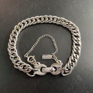 VTG Monet Silver Double Link Bracelet